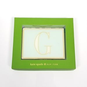 Kate Spade It's Personal ID Holder G Mint Green